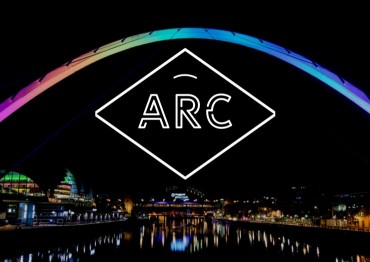 ARC logo with night background